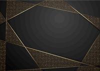 Gold und schwarzer abstrakter Luxushintergrund