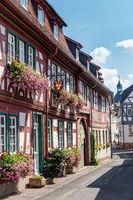 Fachwerkarchitektur in der Altstadt von Seligenstadt in Hessen
