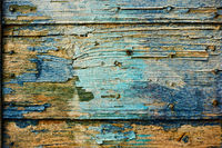 Texture of old wooden planks - background