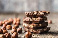 Dark nut chocolate.