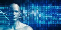 Robot Android Man Using Data Analytics Technology