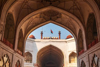 Red Fort Delhi, beautiful arch interior, India