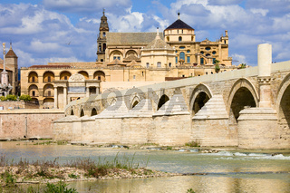Mezquita Cathedral and Roman Bridge in Cordoba