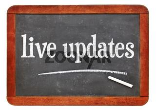 live updates blackboard sign