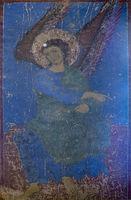 Erzengel Gabriel in Qinzwissi Lapislazuli Blau, Sankt-Nikolaus-Kirche, Qinzwissi-Kloster,Georgien