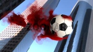 Football City Red Smoke