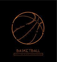 Basketball ball vector illustration.