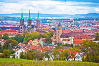 Bamberg. Panoramic view of Bamberg landscape and architecture