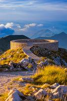 Lovcen Mountains National park at sunset - Montenegro