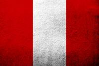 The Republic of Peru National flag. Grunge background
