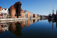 City Skyline Of Gdansk River View