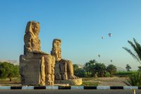 Colossi of Memnon statues and balloons