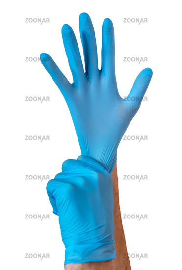 Coronavirus Nurse Pulling On Gloves