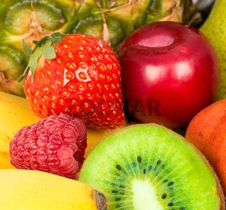 Berries and fruit closeup