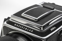 detail of Hasselblad 503CW, vintage medium film camera