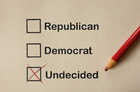 Undecided voter concept