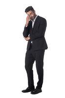 Portrait of business man in stress