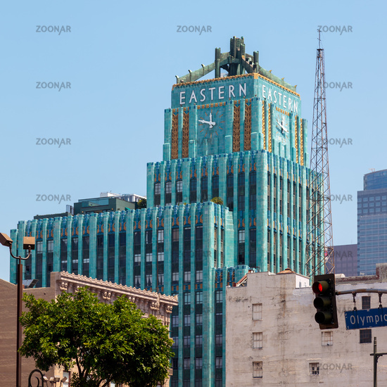 LOS ANGELES, CALIFORNIA, USA - JULY 28 : The Eastern Columbia Building in Los Angeles California on July 28, 2011