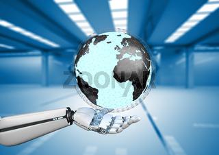 Humanoid Robot Hand Earth