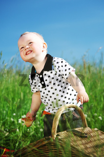 Boy on picnic