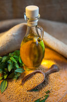mustard oil with seeds