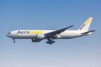 AeroLogic Boeing 777F Flugzeug Flughafen Leipzig Halle