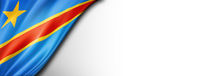 Democratic Republic of the Congo flag isolated on white banner