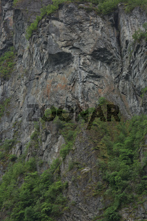 Troll Face on a Cliff of the Geirangerfjord, More og Romsdal, Norway