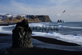 Reynisfjara beach in iceland close to Vik Iceland