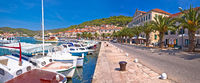 Bay of Vela Luka on Korcula island waterfront view