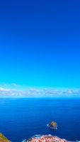 Atlantic Ocean and Garachico town
