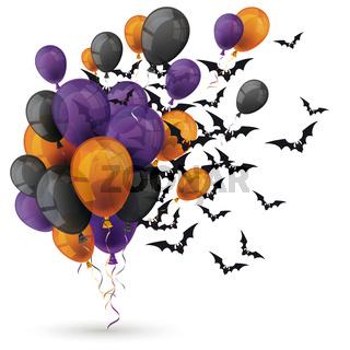 Halloween Balloons Grape Bats