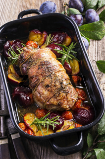 lamb braised with plums