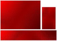 Drei abstrakten Halbton Hintergrund in den roten Farben