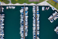 sailboats and yachts moored in Lovere
