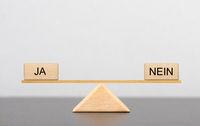 Pro und Contra, ja und nein im Gleichgewicht