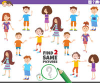find two same picture of child characters game