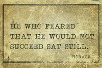 sat still Horace