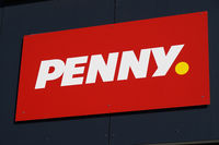 Penny logo sign of german discount supermarket chain