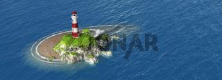 Leuchtturm Panorama Luftbild