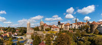 panorama cityscape view of the old town of Bautzen in Saxony