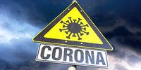 Hinweisschild Coronavirus