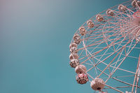 Low angle view of empty ferris wheel without people