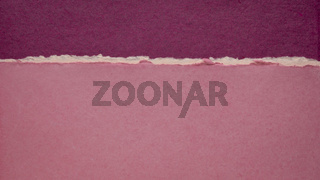 abstract landscape in pink and purple created with handmade Indian paper