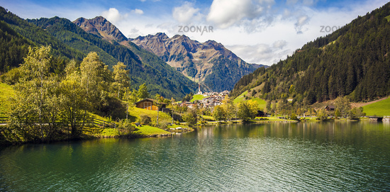 At the Mühlwald reservoir in Mühlwald Trentino South Tyrol Italy