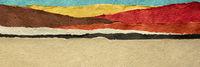 abstract paper desert landscape