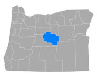Karte von Crook in Oregon - Map of Crook in Oregon
