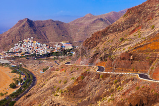 Road to beach Teresitas in Tenerife - Canary Islands