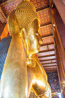 Statue of Reclining Buddha in temple Wat Pho, Bangkok