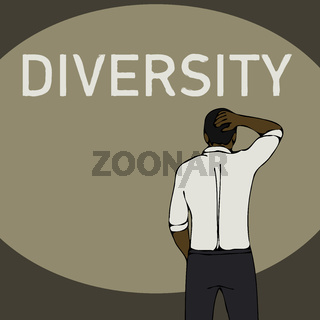 diversity problem concept black business man